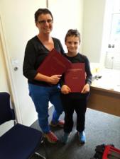 Orla Egan and Jacob Egan-Morley submitting MA to UCC September 2014