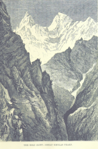 Etching of the Himalayas from the British LIbrary Collection.